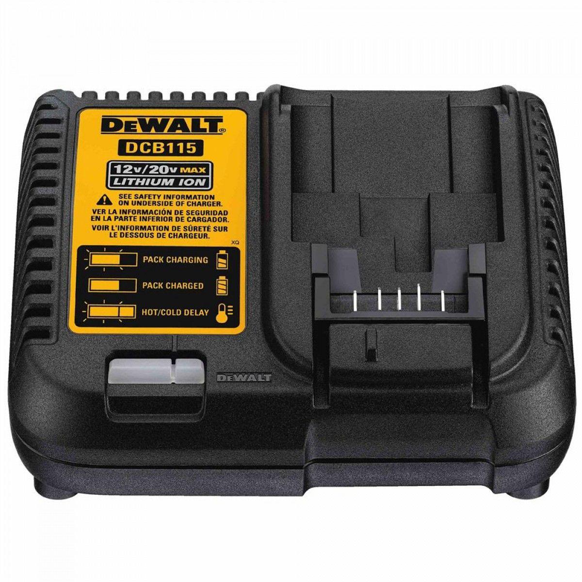 Carregador Bateria 12v A 20v Dcb115 / Dcb101 / Dcb107 Dewalt