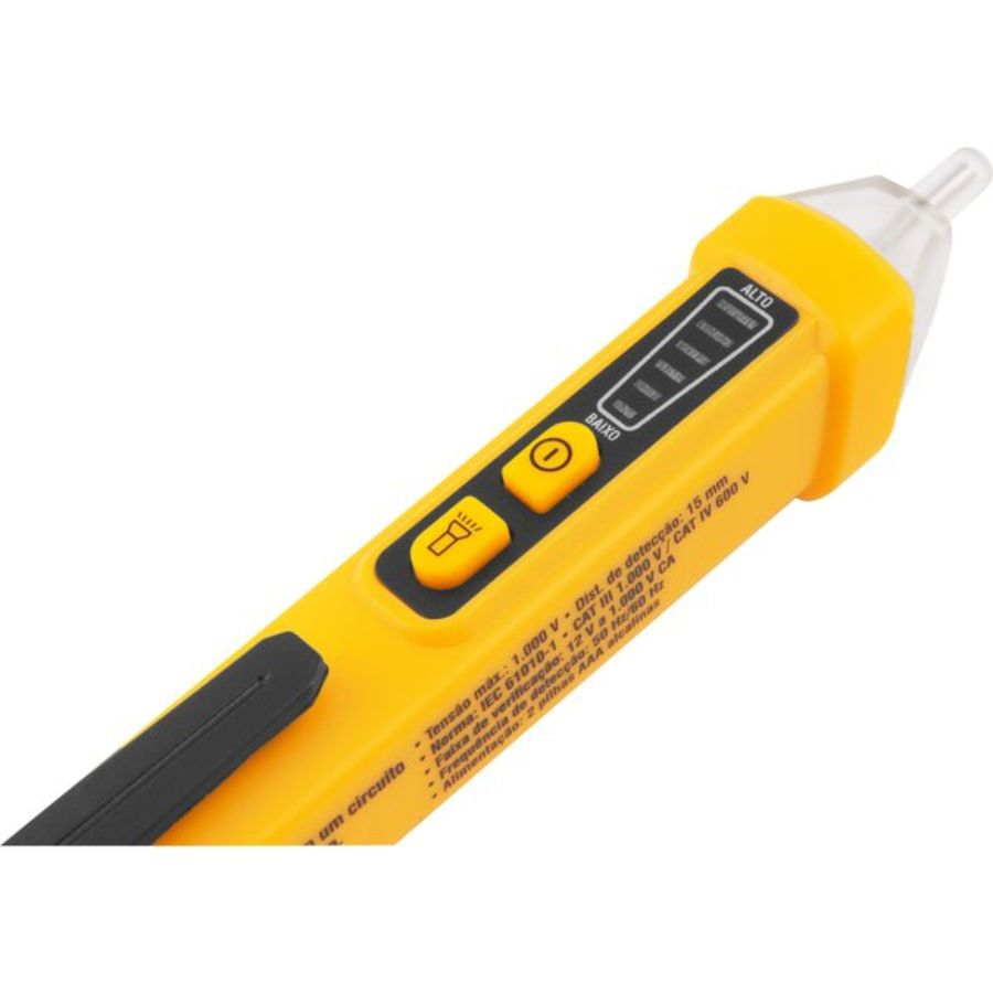 Detector de Tensão CA Sonoro e Luminoso DTV-1210 - Vonder 3870121000