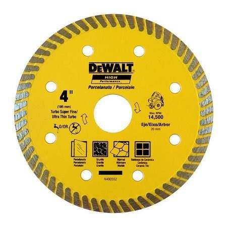 "Disco Diamantado Turbo para Porcelanato 4"" DW57400BHP - Dewalt"