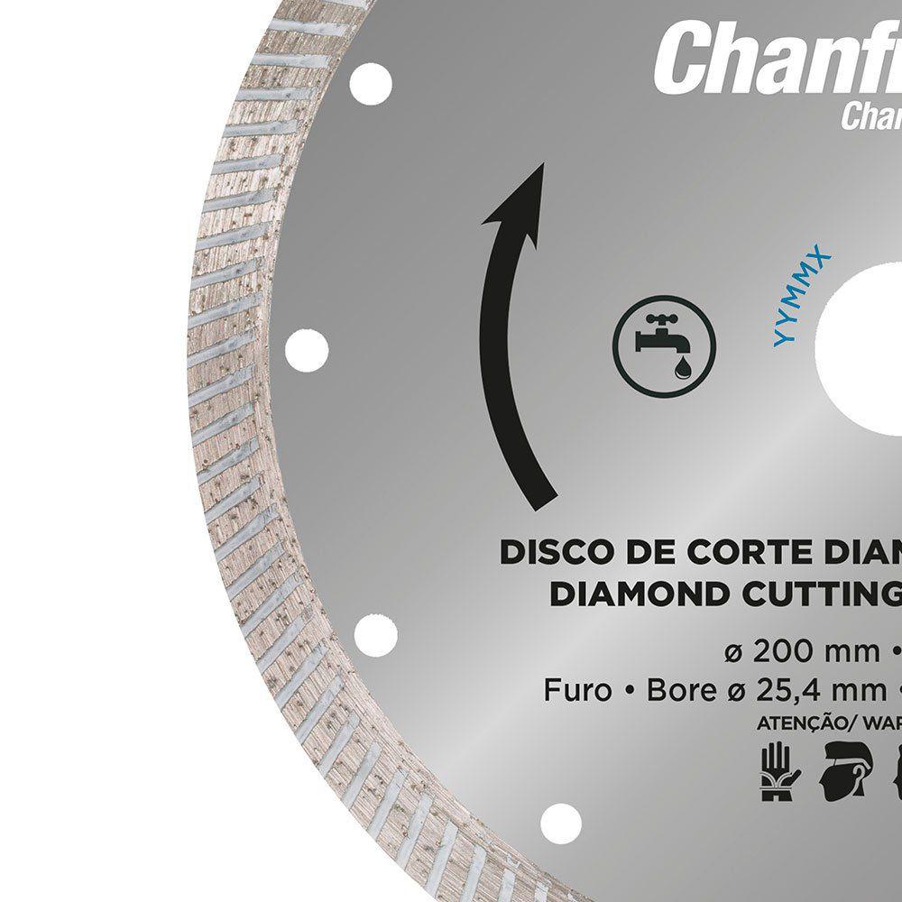 Disco Diamantado 200 Mm Para Chanfro 45° Linha Zapp Cortag 61681