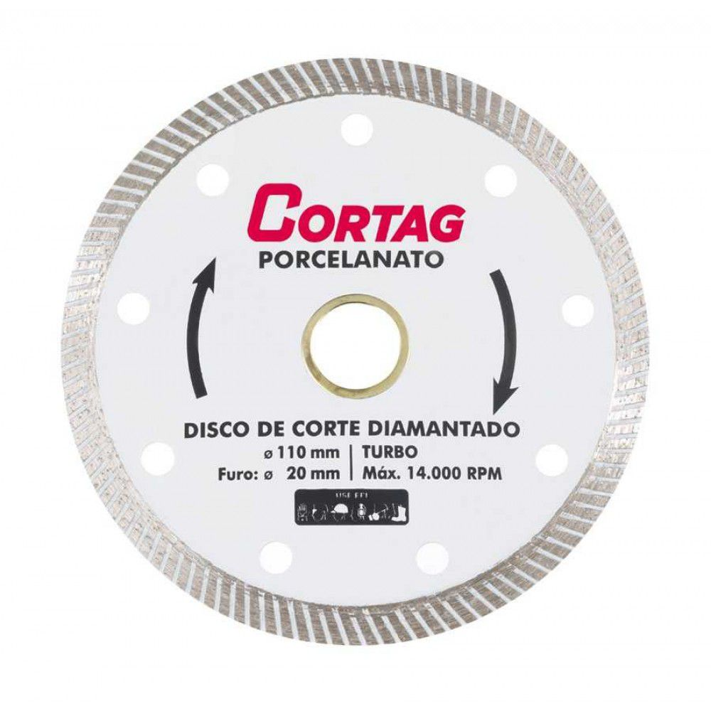 KIT DISCOS DIAMANTADO PORCELANATO CORTAG C/ 5 UNIDADES 60863-5