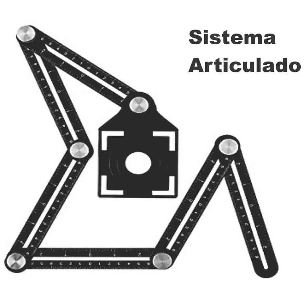 Gabarito Angular P/ Furos Pisos/porcelanatos Metal Cortag  61879