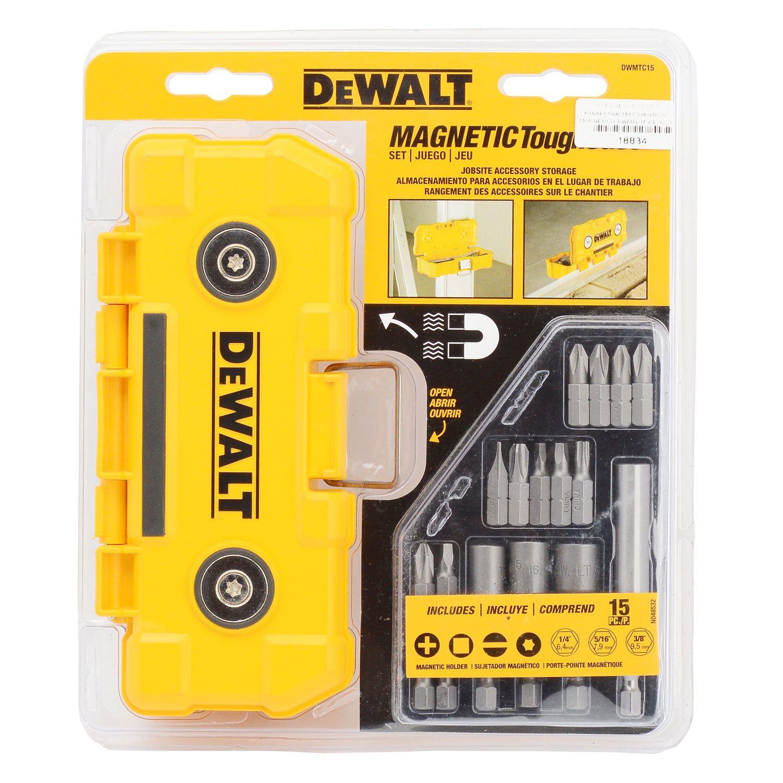 Jogo com 15 Pontas para parafusar Estojo Magnético (DeWalt DWMTC15)