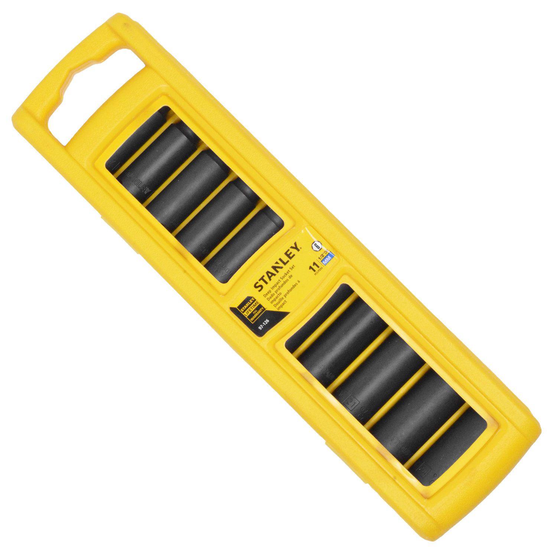 """Jogo de soquetes de impacto em milímetros (encaixe 1/2"""") - 11 peças (Stanley 97-126)"""