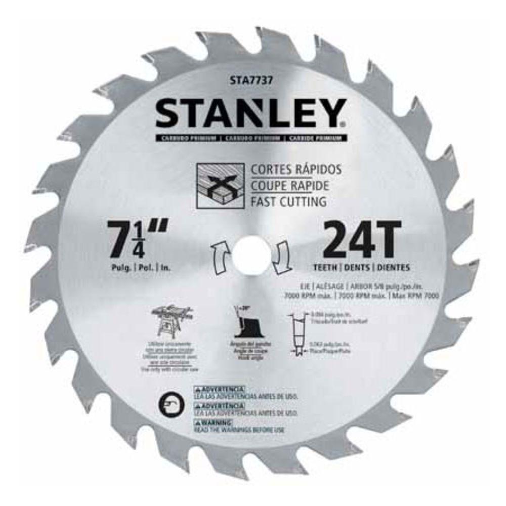 """Lâmina de Serra Circular 7 1/4"""" 18 dentes Stanley STA7717"""