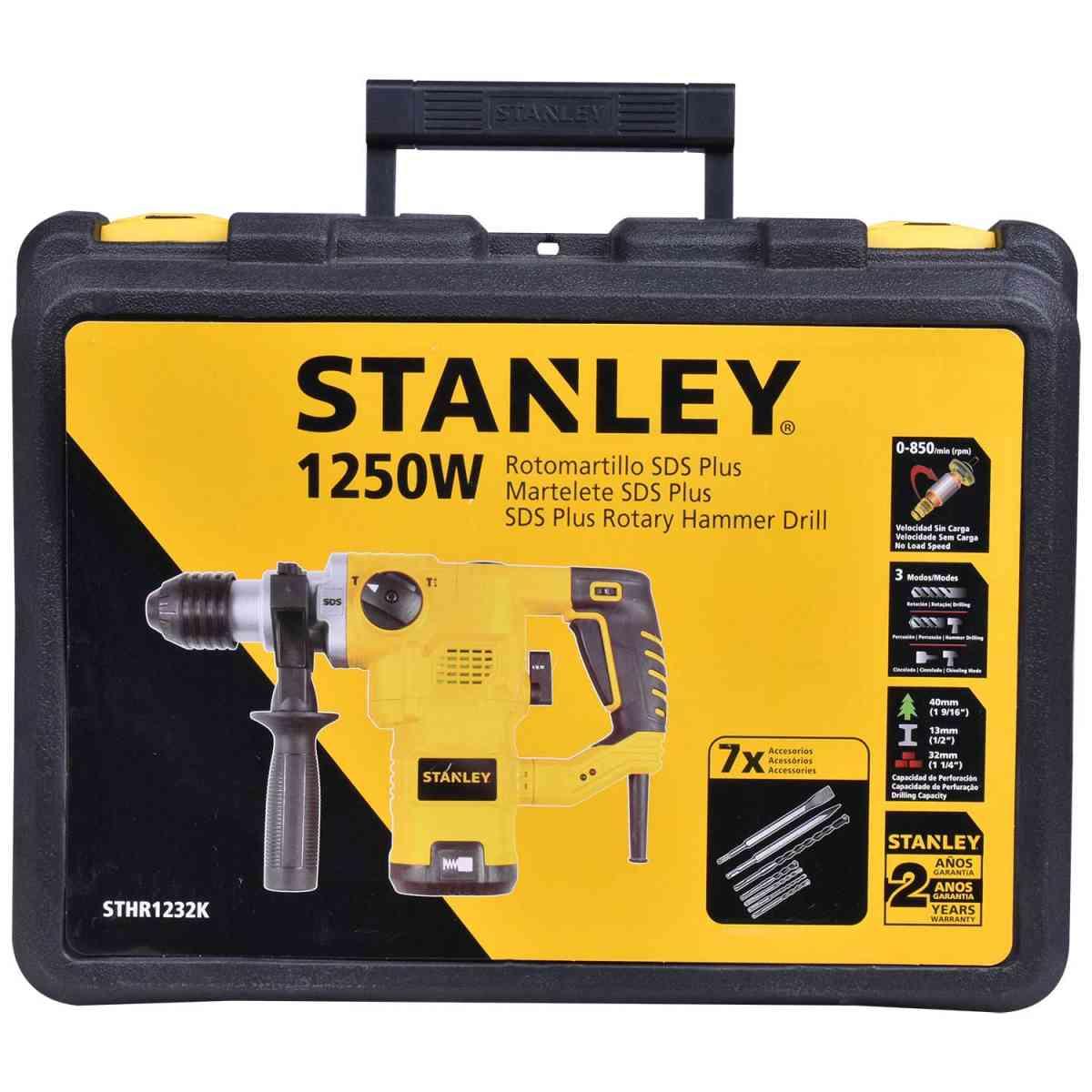 Martelete Perfurador SDS Plus 1250W STANLEY STHR1232K