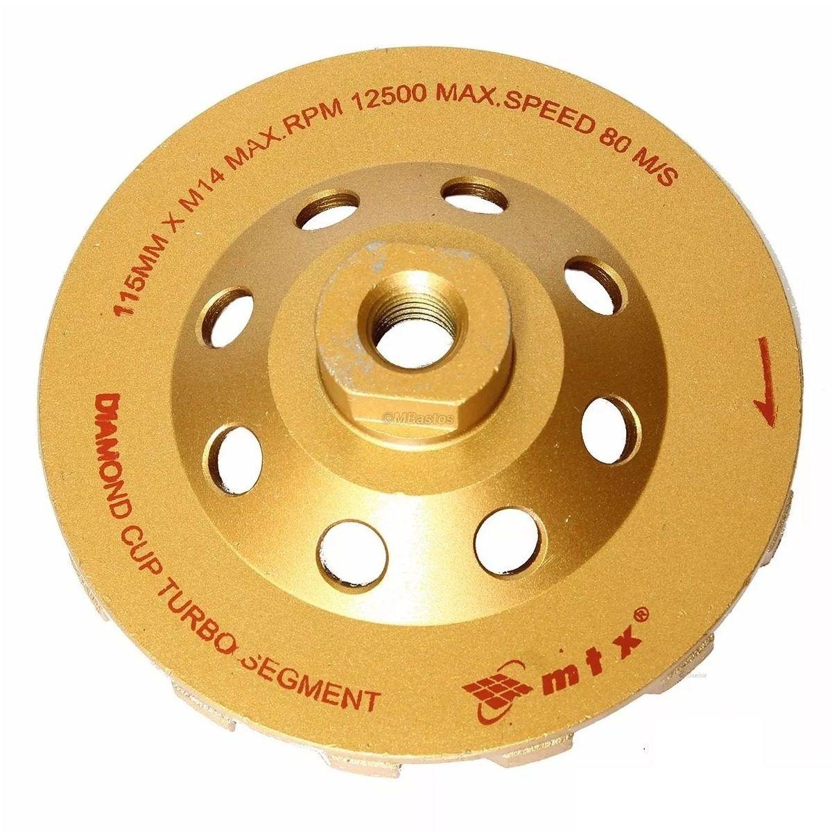 Turbo Disco Desbaste Diamantado Concreto Mármore Granito 115mm