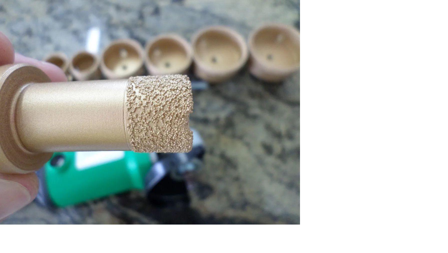 Serra Copo broca para furar porcelanato diamantada 25mm M14 CORTAG