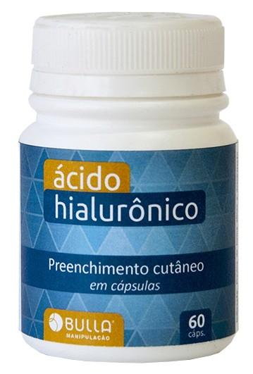 Ácido Hialurônico 50 mg - 60 cápsulas  - Bulla Farmácia de Manipulação