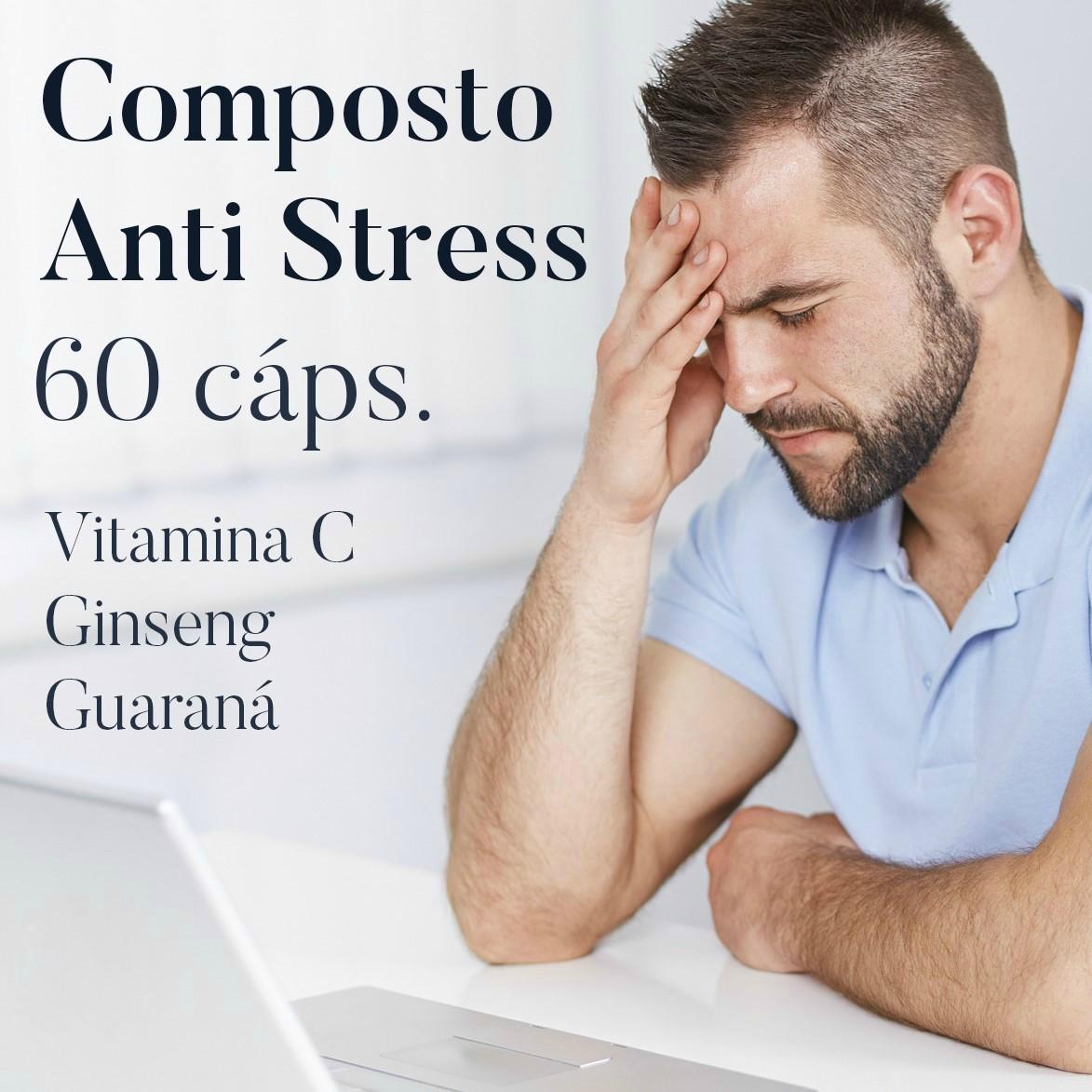 Composto Anti Stress - 60 cápsulas   - Bulla Farmácia de Manipulação