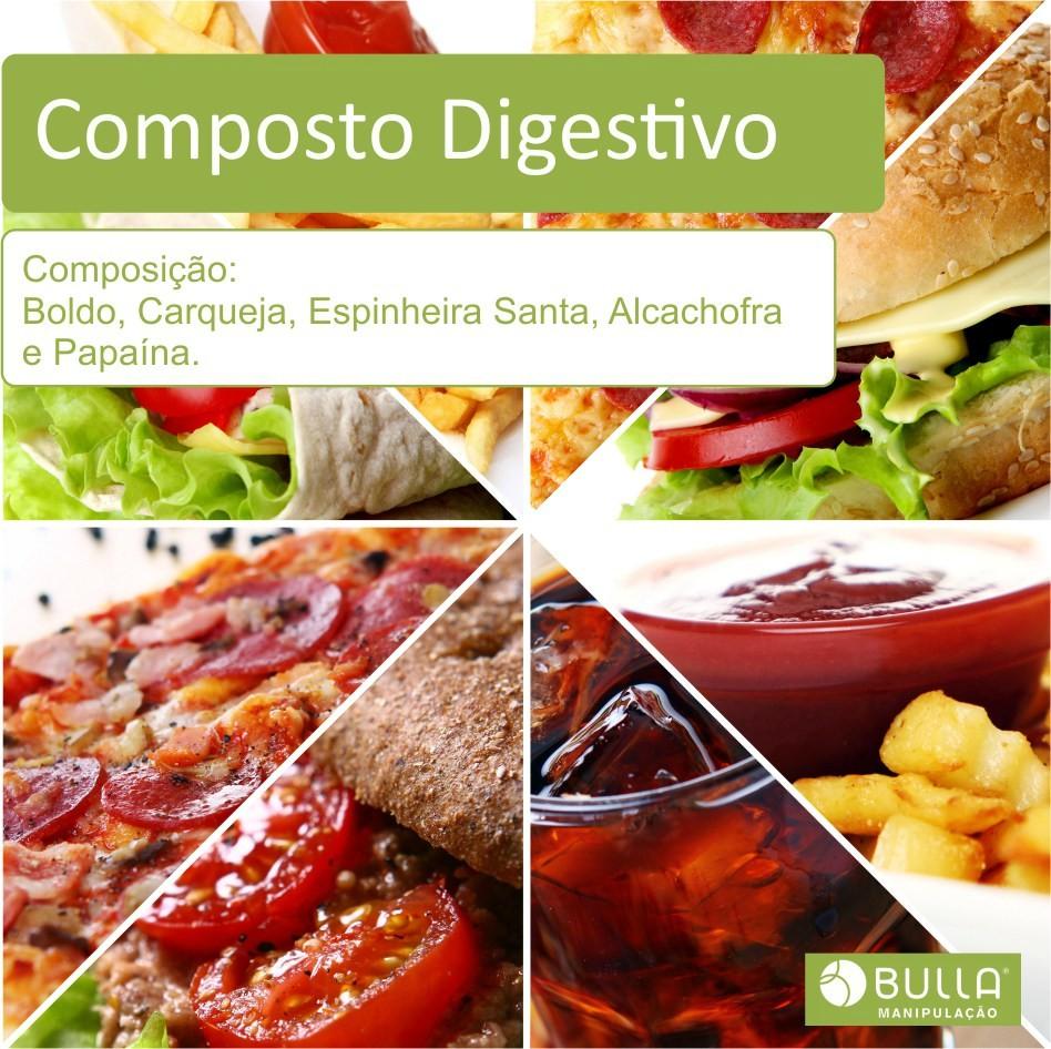 Composto Digestivo - 60 cápsulas   - Bulla Farmácia de Manipulação