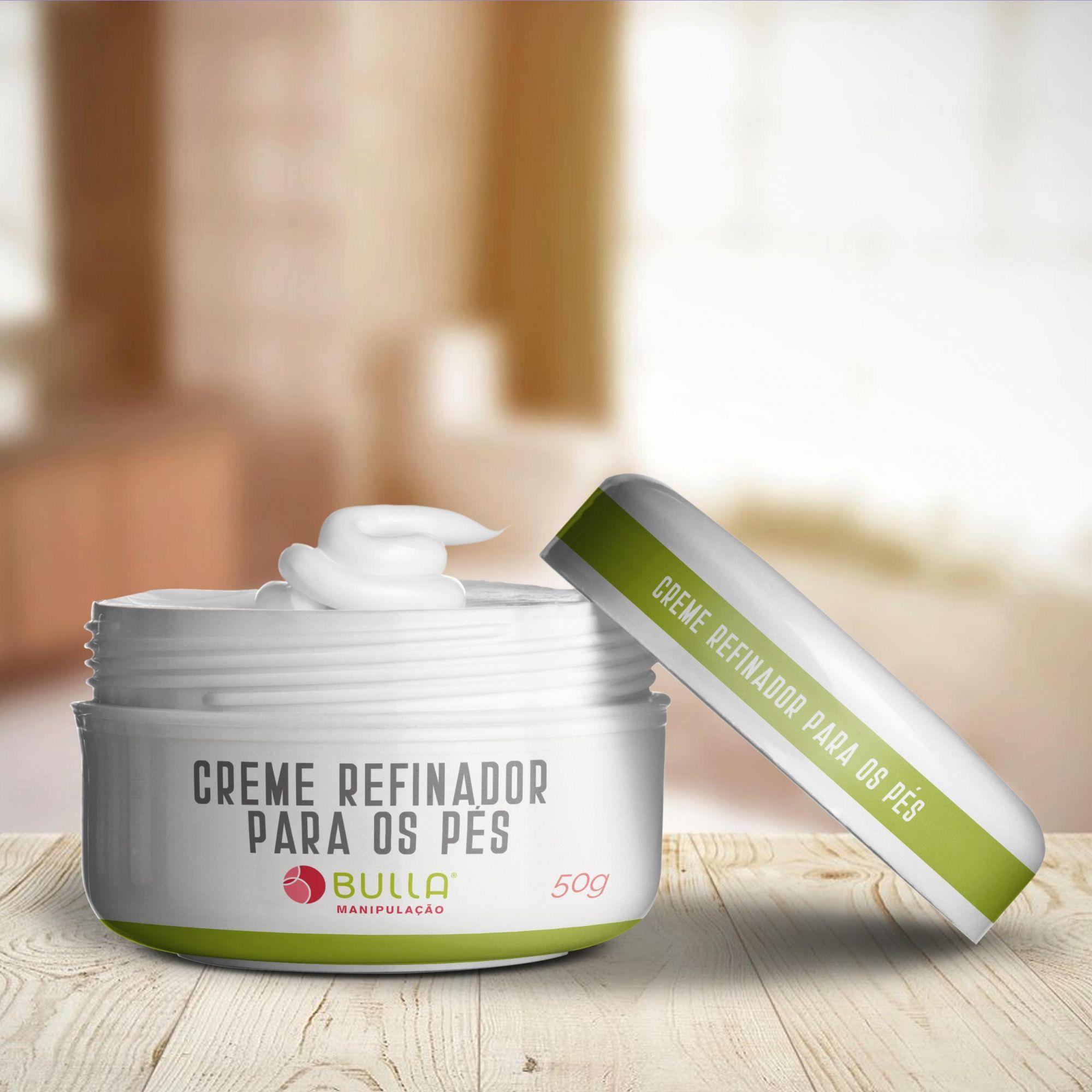 Creme Refinador para Pés - 50g  - Bulla Farmácia de Manipulação