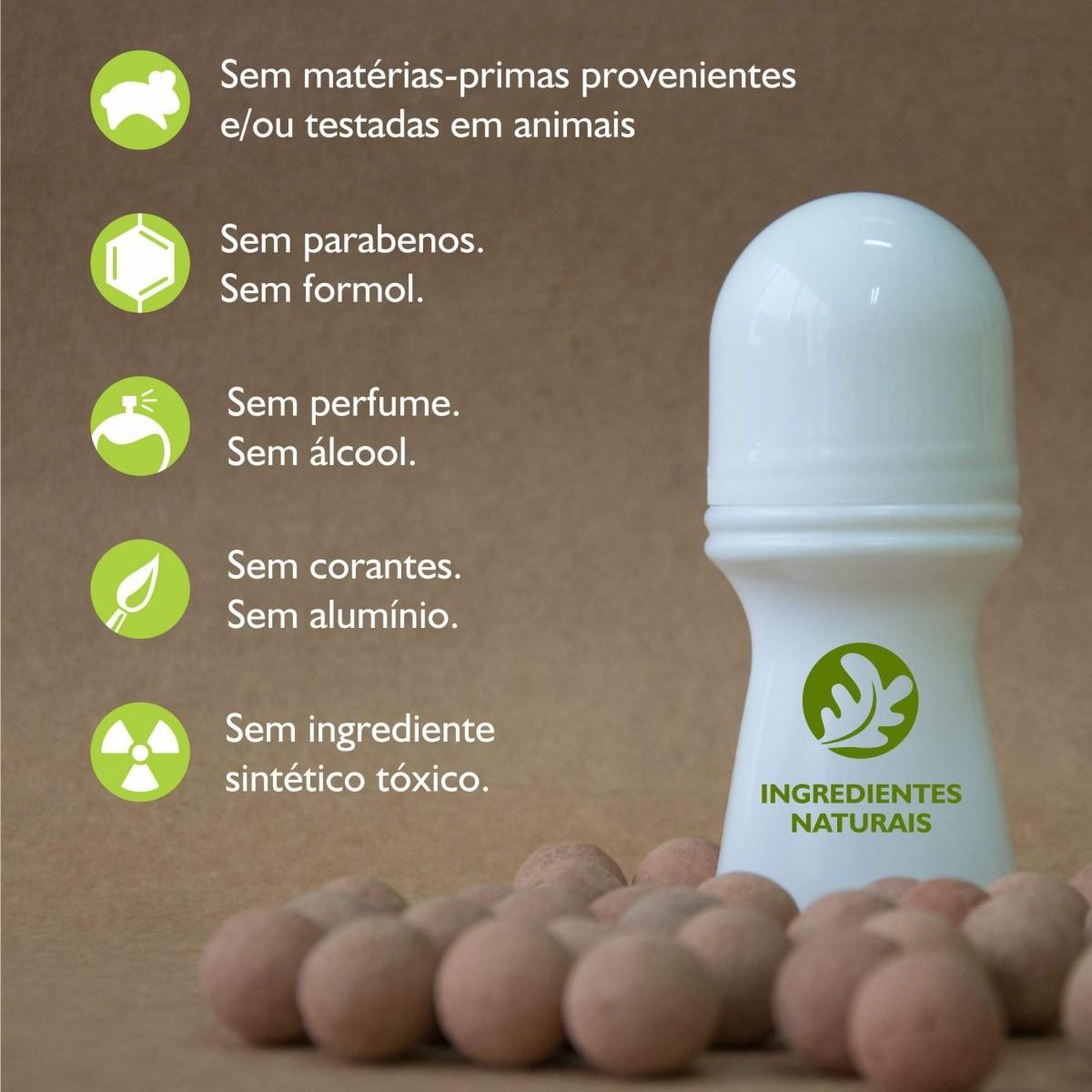 Desodorante Vegano Sem Alumínio - 70ml  - Bulla Farmácia de Manipulação