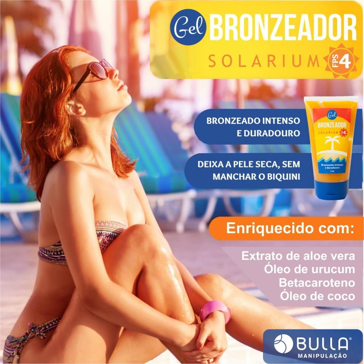 Gel Bronzeador FPS4 - 150 g  - Bulla Farmácia de Manipulação