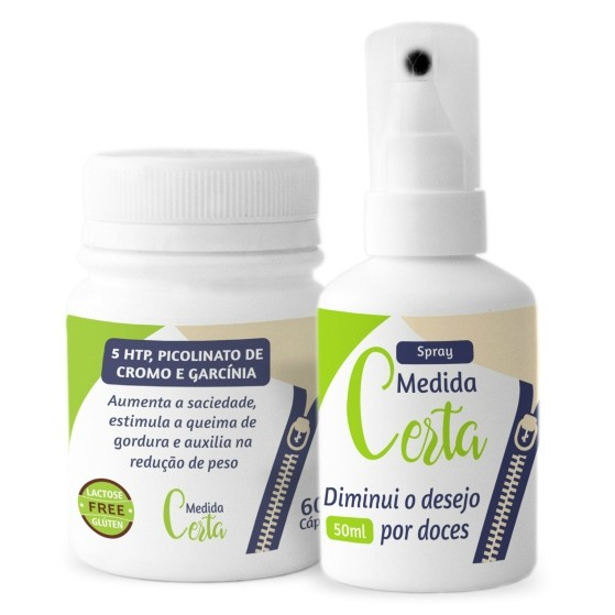 Kit Medida Certa - 60 Cápsulas e 50 ml Spray Bucal com Gynema