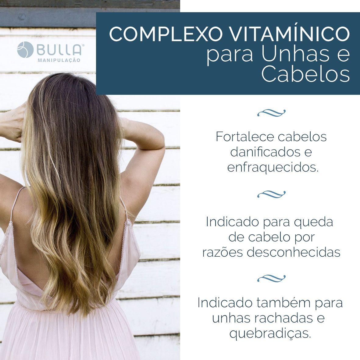 Pantogar - Complexo Vitamínico para Queda de Cabelos - 60 cápsulas   - Bulla Farmácia de Manipulação