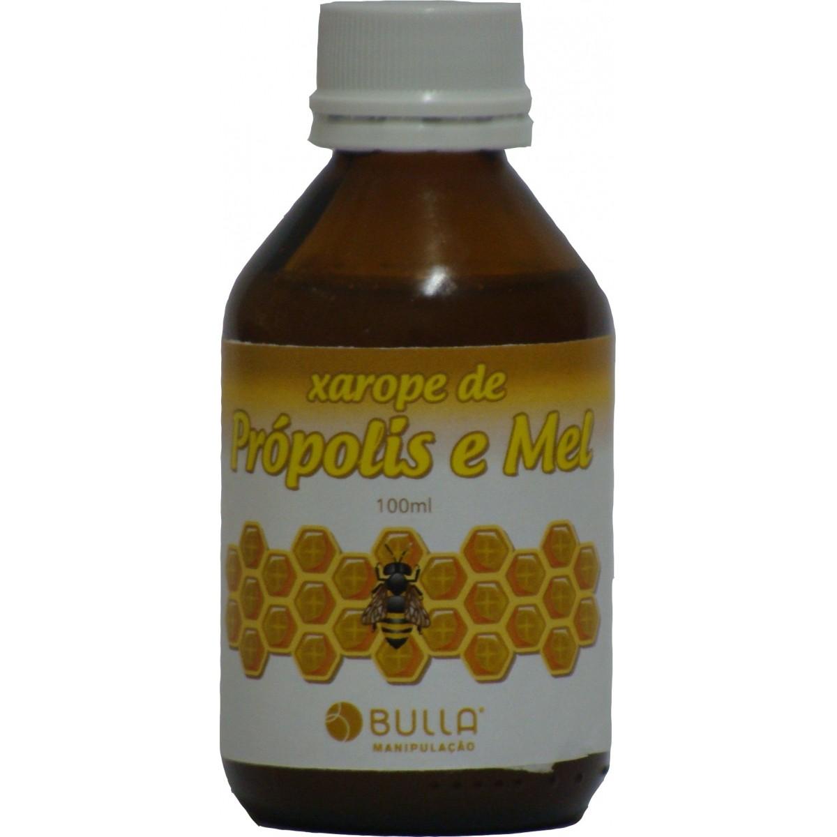 Xarope Mel e Própolis - 100 ml  - Bulla Farmácia de Manipulação