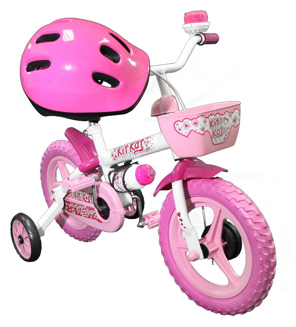 Bicicleta Track Bikes Kit Kat Infantil Aro 12 com capacete Seminova