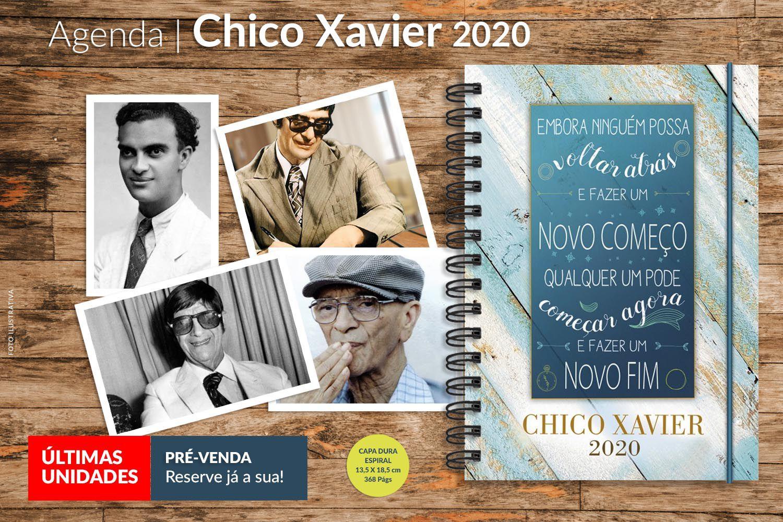 Agenda | Chico Xavier 2020 | PRÉ-VENDA - últimas unidades