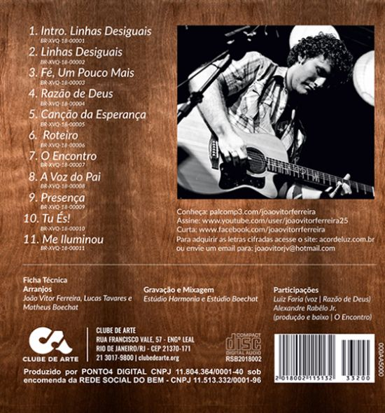 CD - | João Vitor Ferreira - Luz na Canção