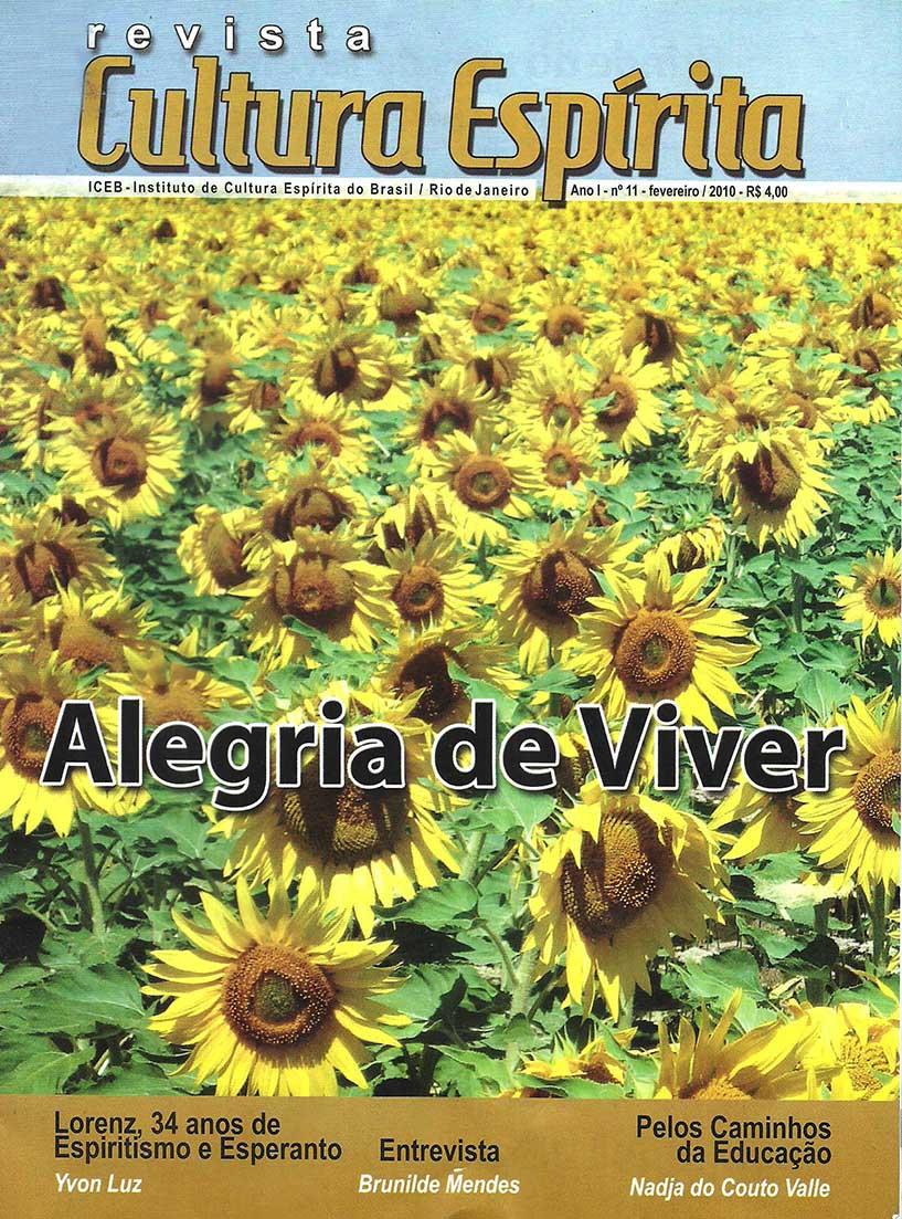 Revista Cultura Espírita 11 - Alegria de Viver