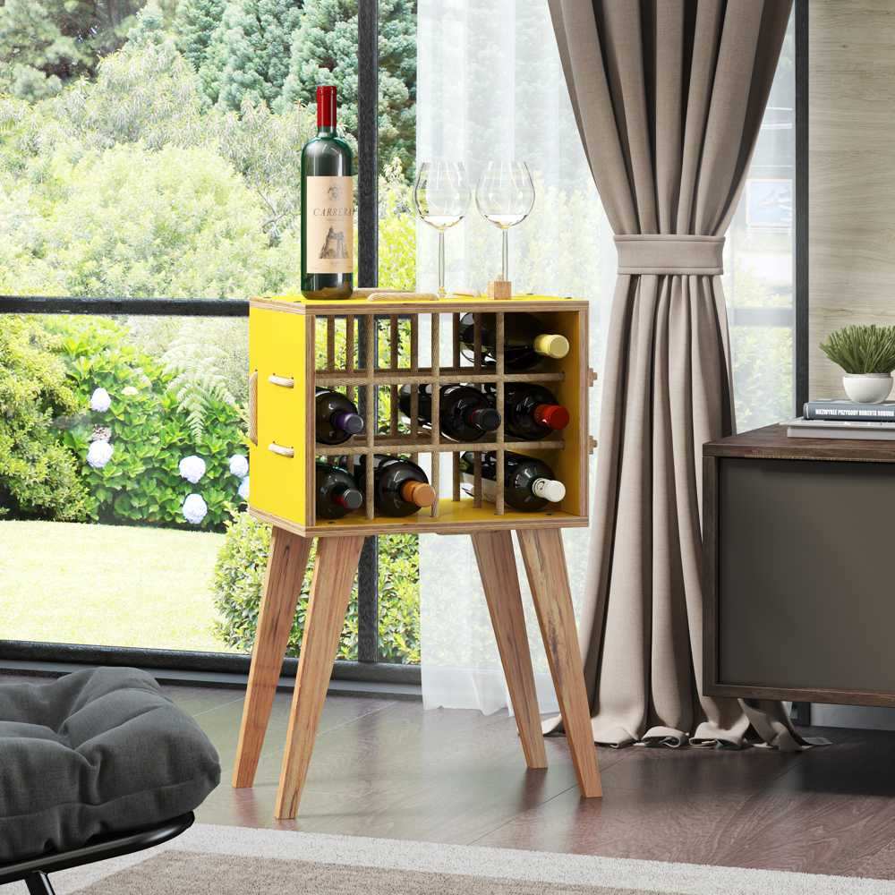 Adega para Vinho 12 Garrafas 48cm 1001 Cordel BE Móveis