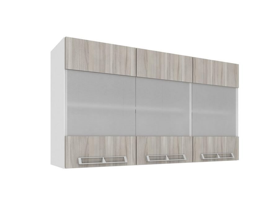 Aéreo 3 portas vidro 1,20m CZ416 Várias Cores Mia Coccina