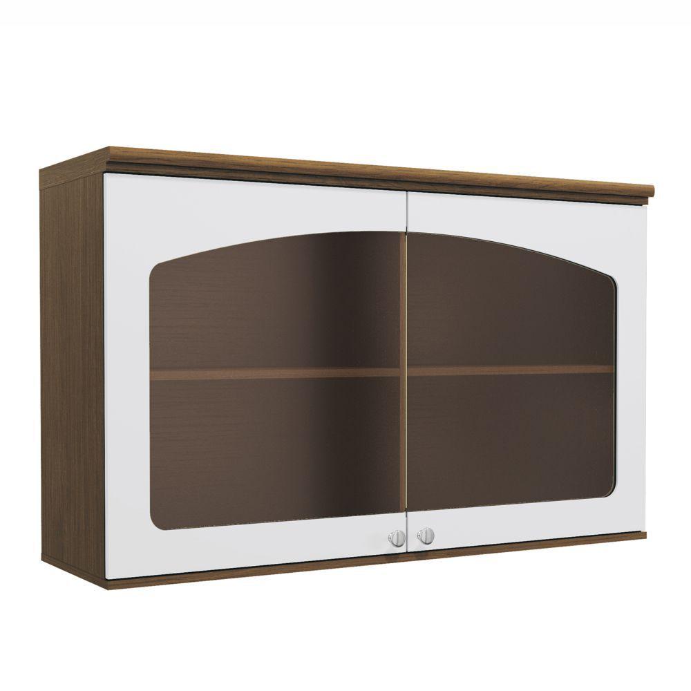 Aéreo de Cozinha 1,20m com 2 portas com Vidro G627 Provenzza Kappesberg
