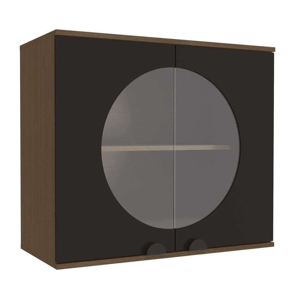 Aéreo de Cozinha 80cm 2 Portas com Vidro POP PO018 Kappesberg