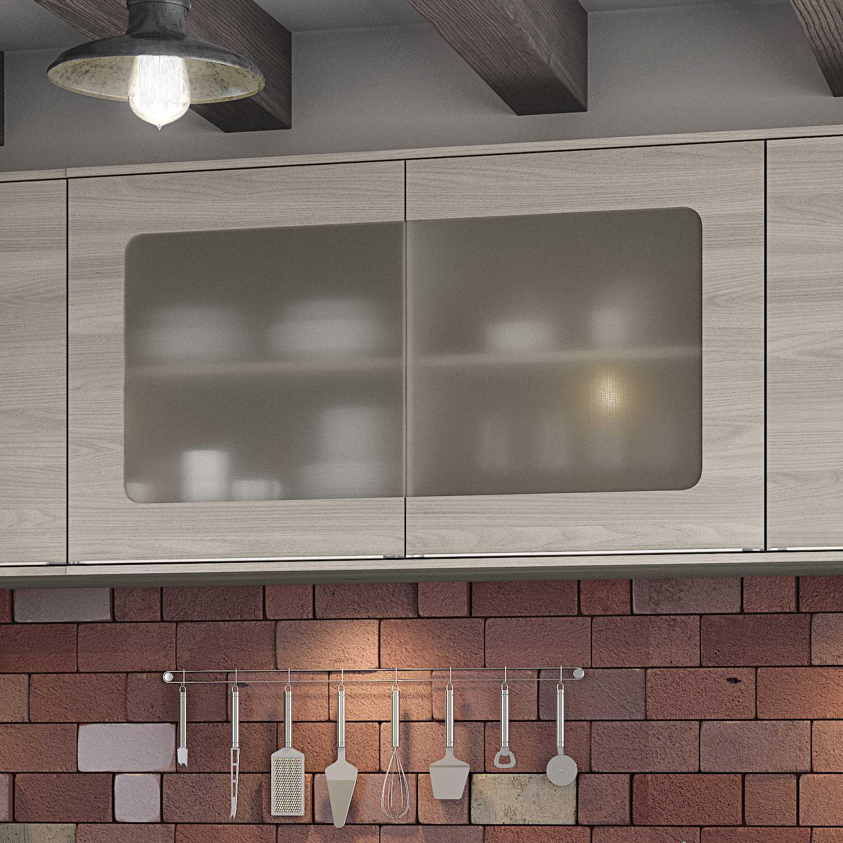 Armário de Cozinha Aéreo 1,20m 2 portas de vidro Versatti C664 Kappesberg