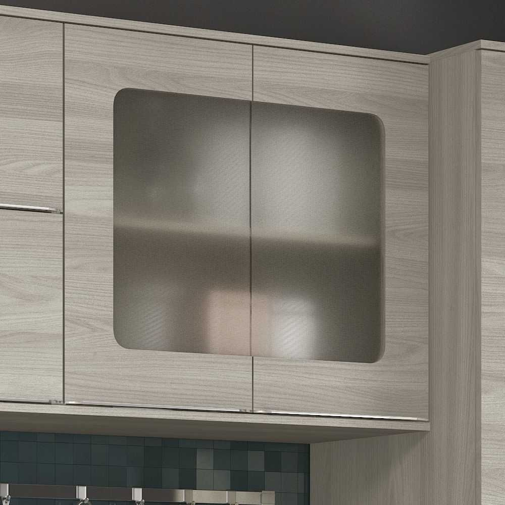 Armário de Cozinha Aéreo 80cm 2 portas de vidro Versatti C663 Kappesberg