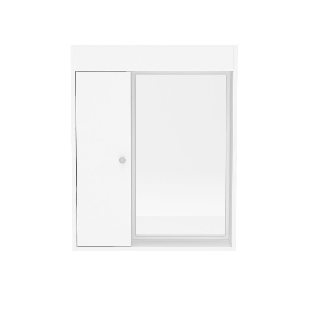 Armário Aéreo de Banheiro com Espelho 1 Porta Politorno
