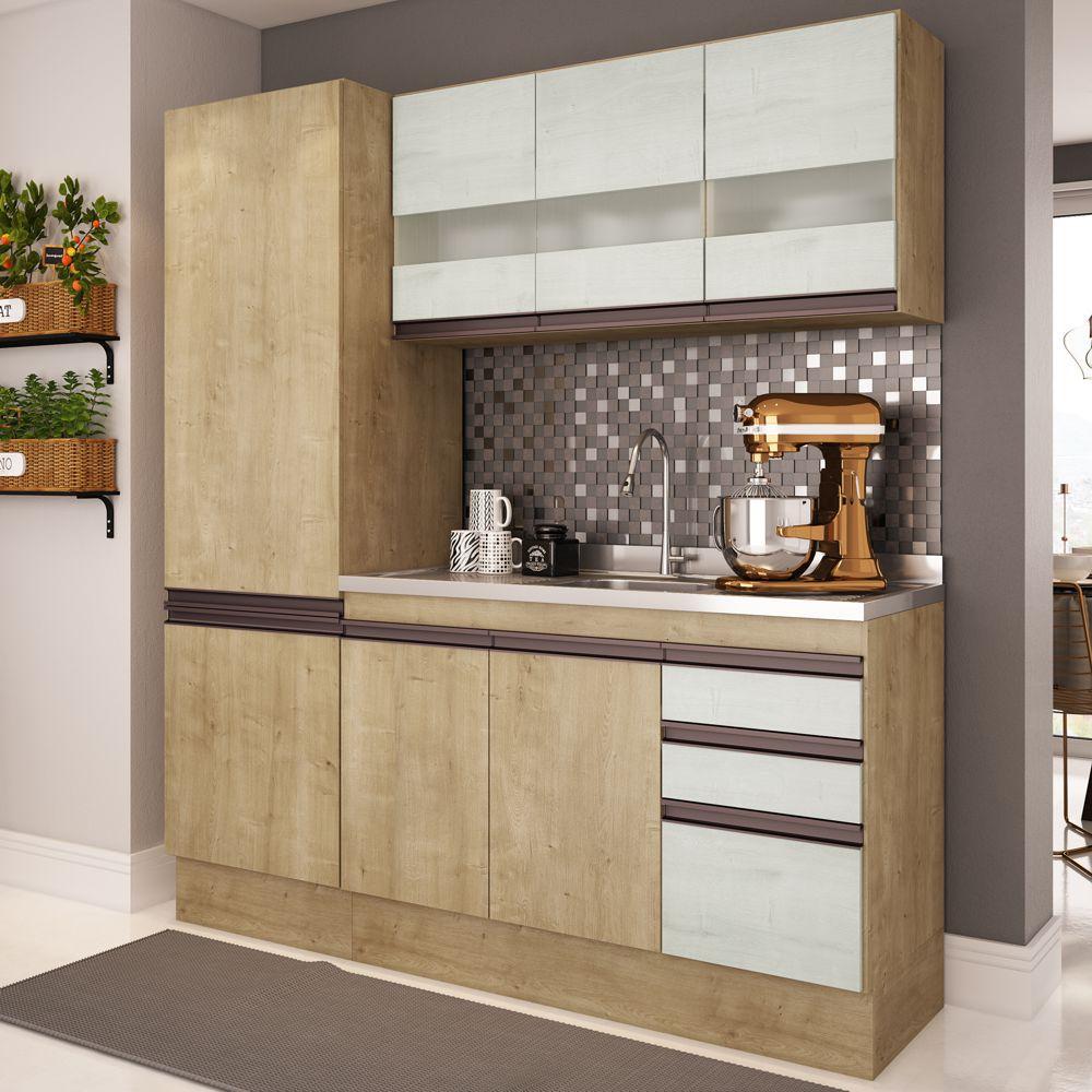 Armário de Cozinha 3pc 1,75m A2696 Amália Casamia