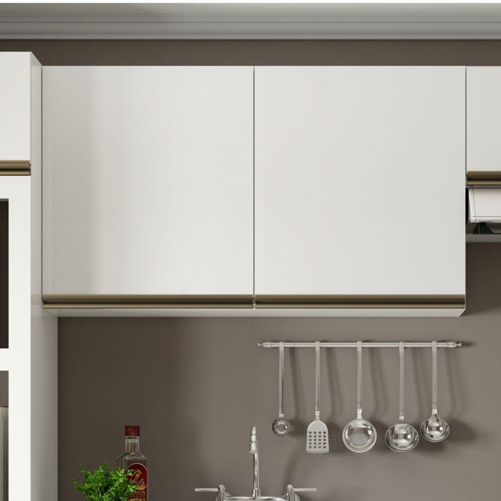 Armário de Cozinha Aéreo 1,20m com Luzes LED 2 Portas Vitória K352L Dalla Costa
