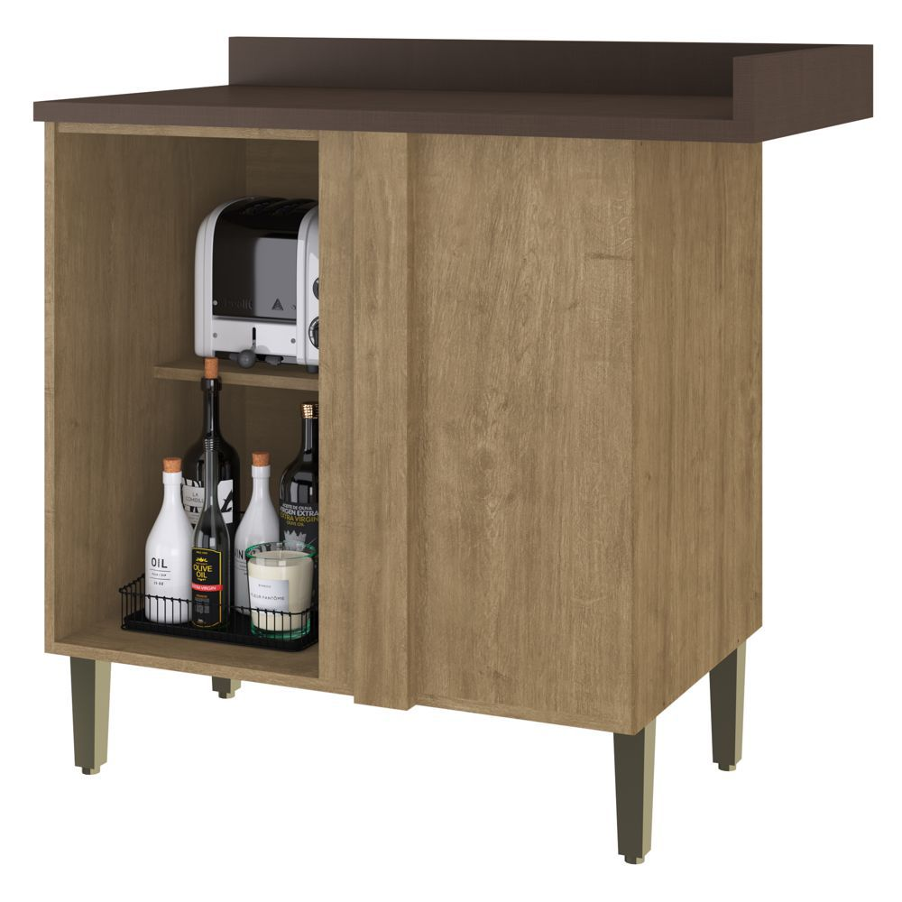Armário de Cozinha Balcão Canto Reto 95cm 2804 Áustria Casamia