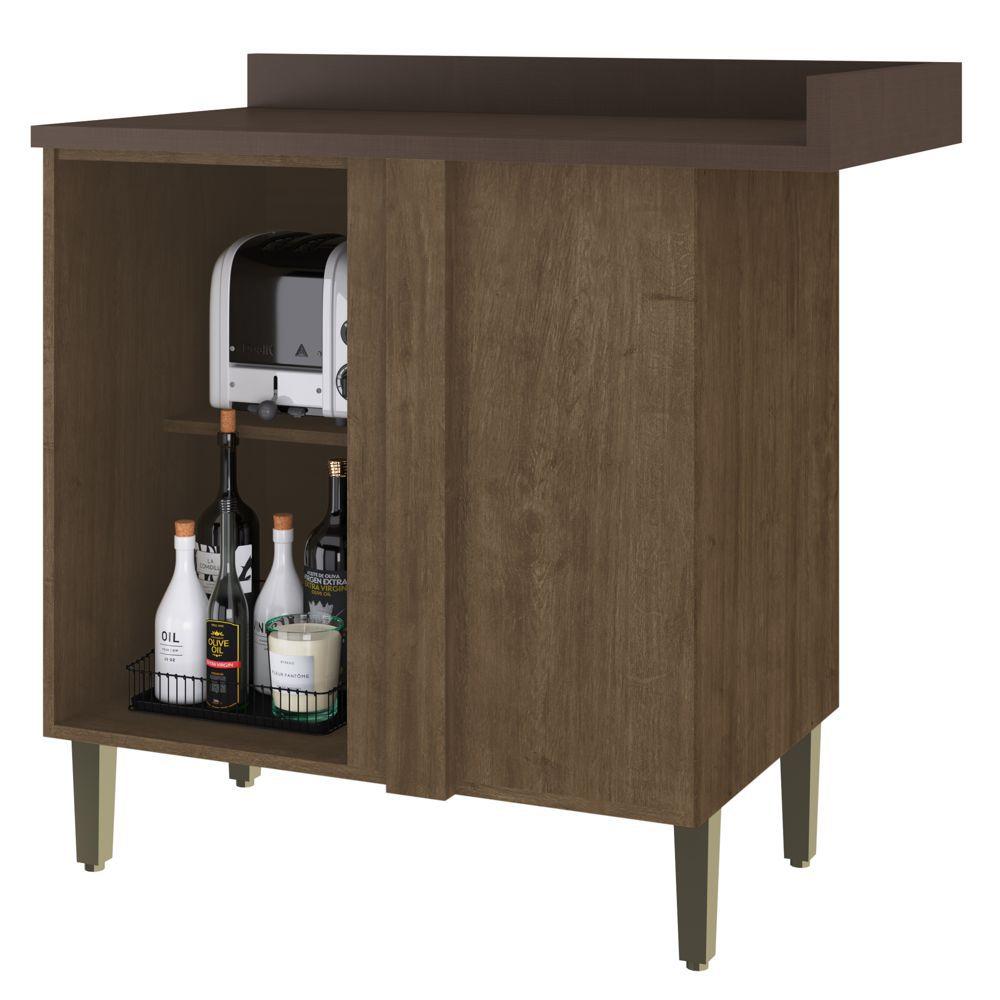 Armário de Cozinha Balcão Canto Reto 95cm 2904 Dubai Casamia