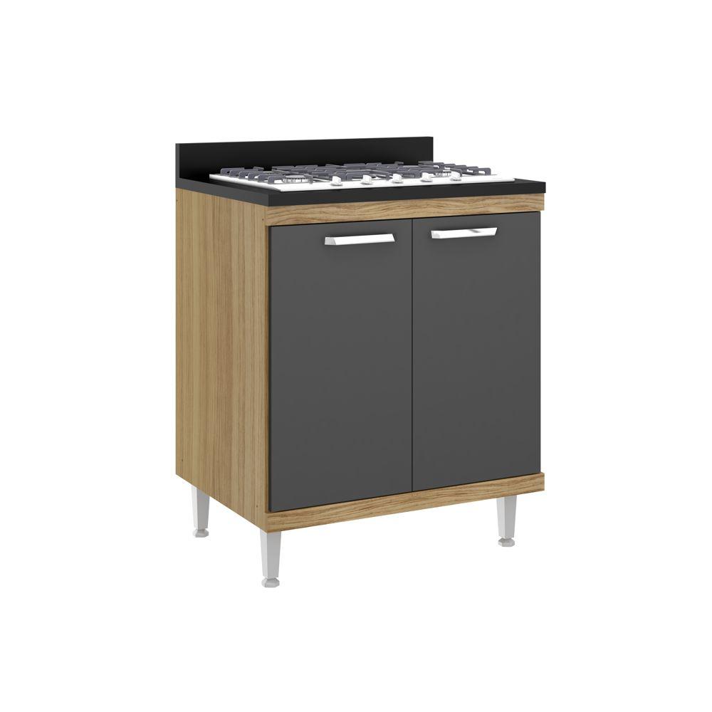 Armário de Cozinha Balcão Duplo 70cm 2 Portas com Tampo 5122 Sicília Multimóveis