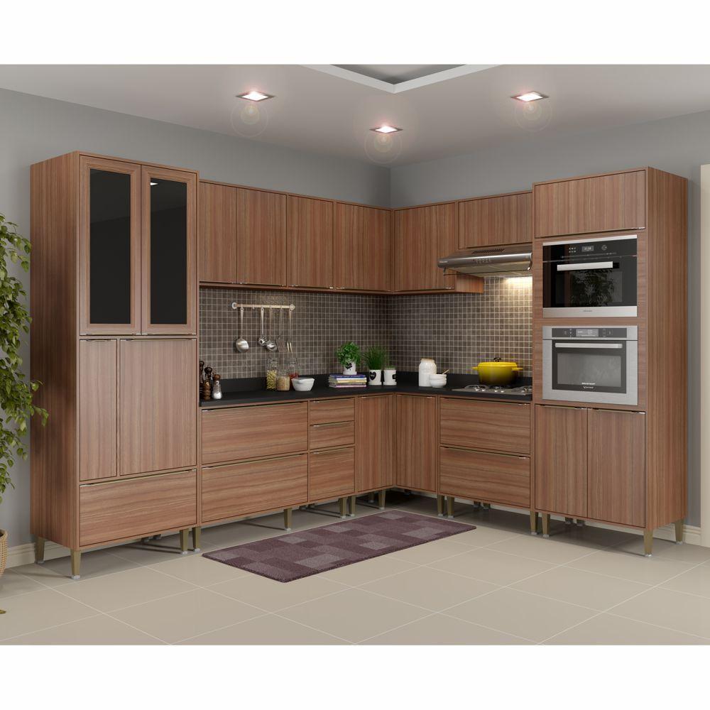 Armário de Cozinha Completo 10pc 276,50cm Calábria 5461MF Multimóveis