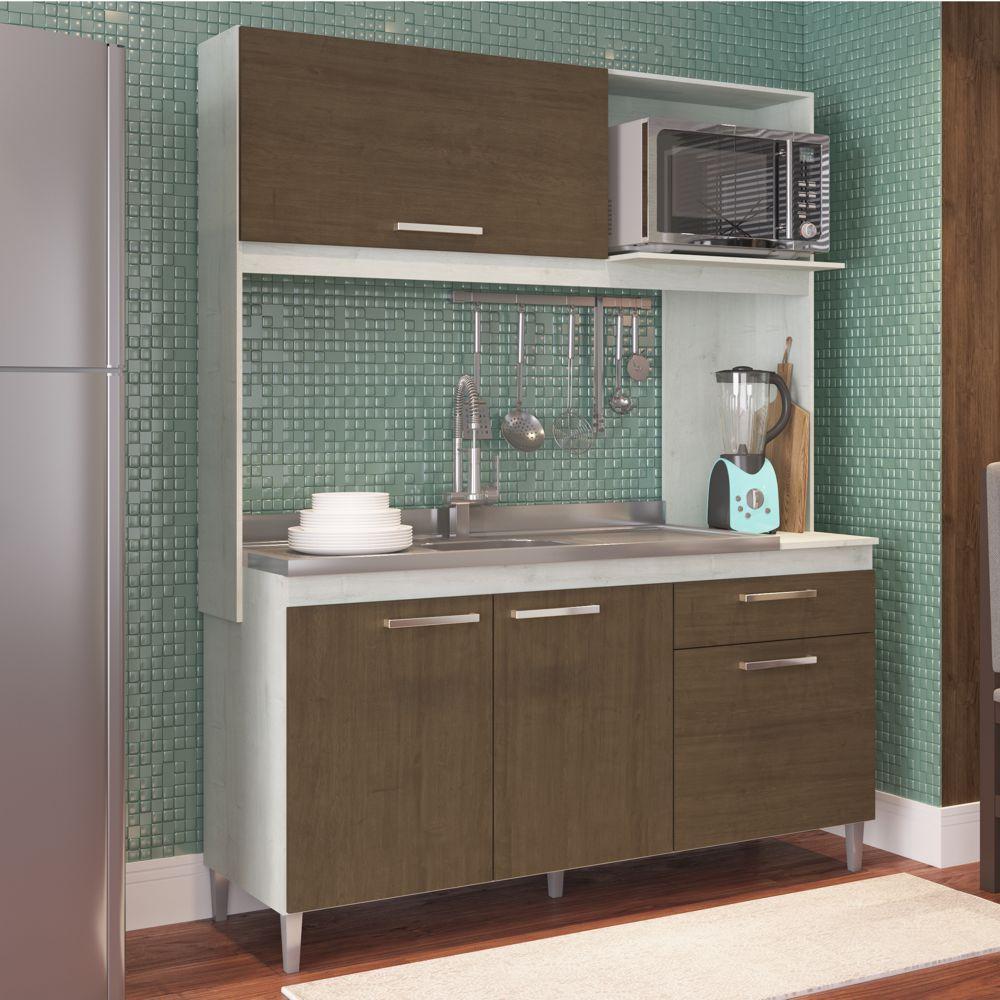 Armário de Cozinha Completo 1,53m Bela 282 Casamia