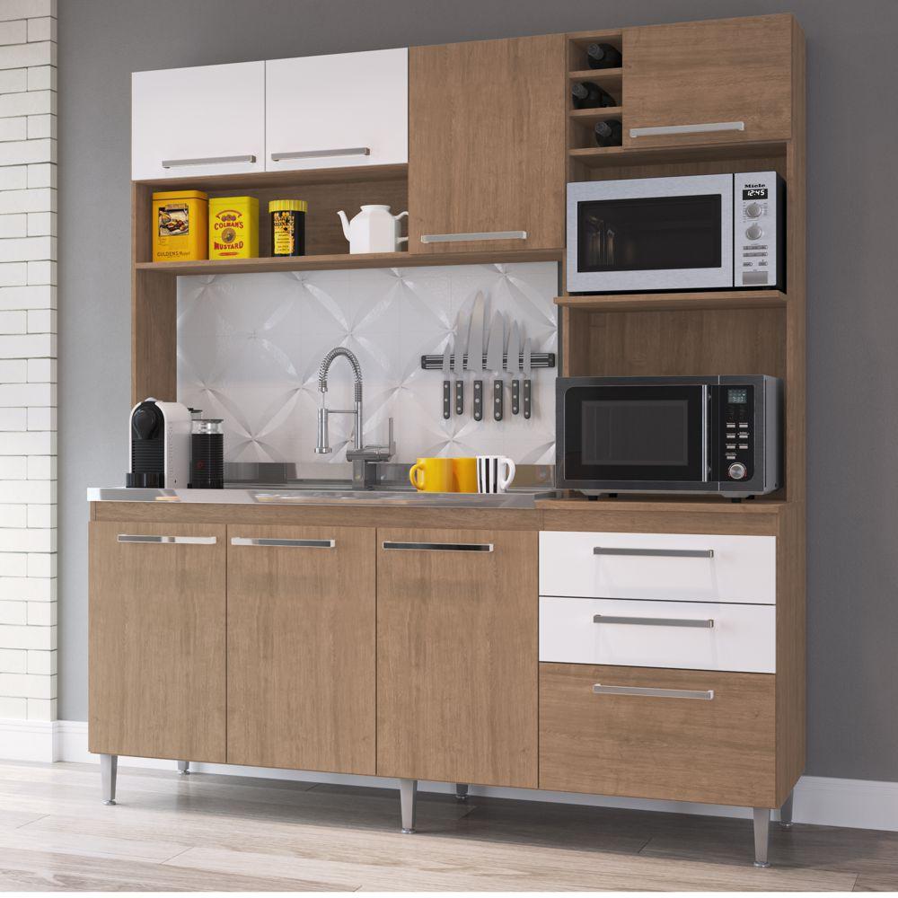 Armário de Cozinha Completo 1,86m Espaço para 2 Fornos Blume 173 Casamia