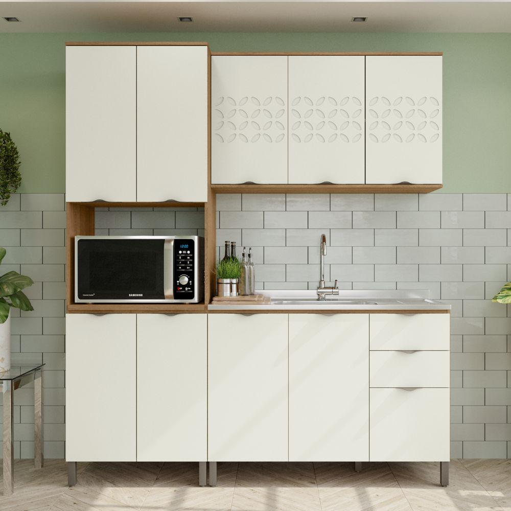 Armário de Cozinha completo 3 peças CB615 Lótus Kappesberg