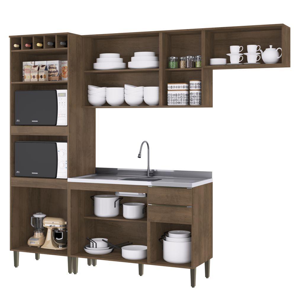 Armário de Cozinha Completo 4pc 2,55m A2898 Áustria Casamia