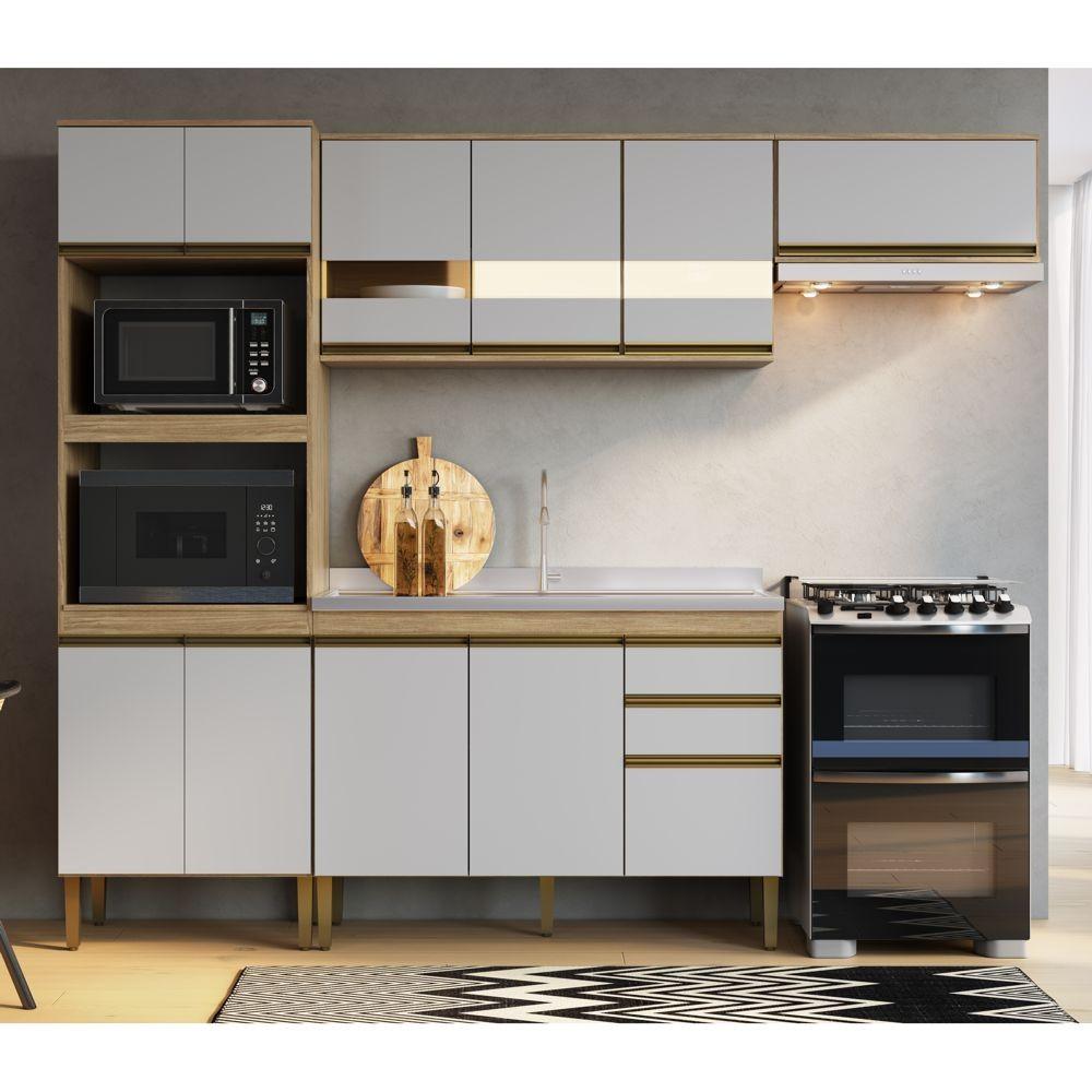 Armário de Cozinha completo 4pc 2,55m Casablanca A3496 Casamia