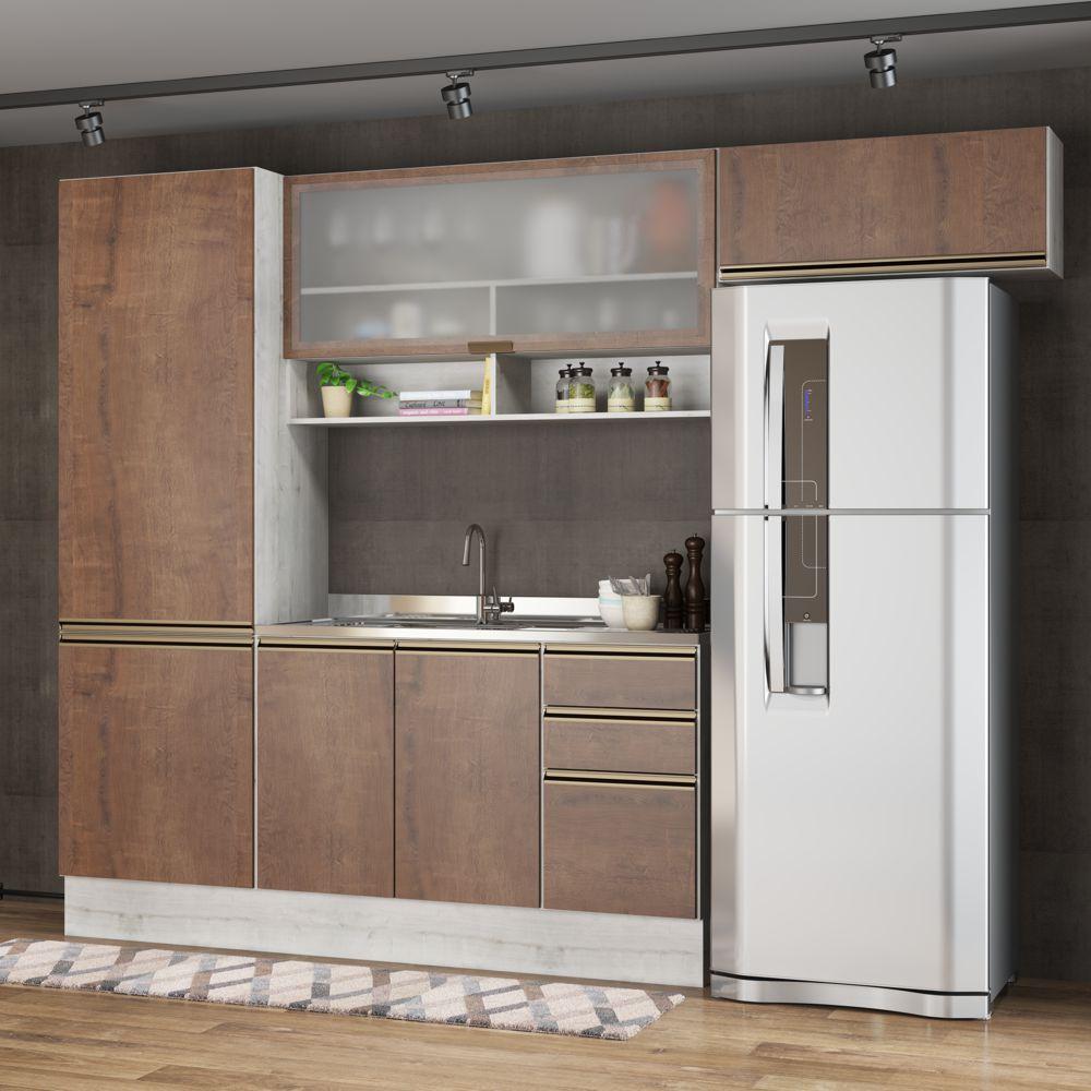 Armário de Cozinha Completo 4pc 2,60m A2494 França Casamia