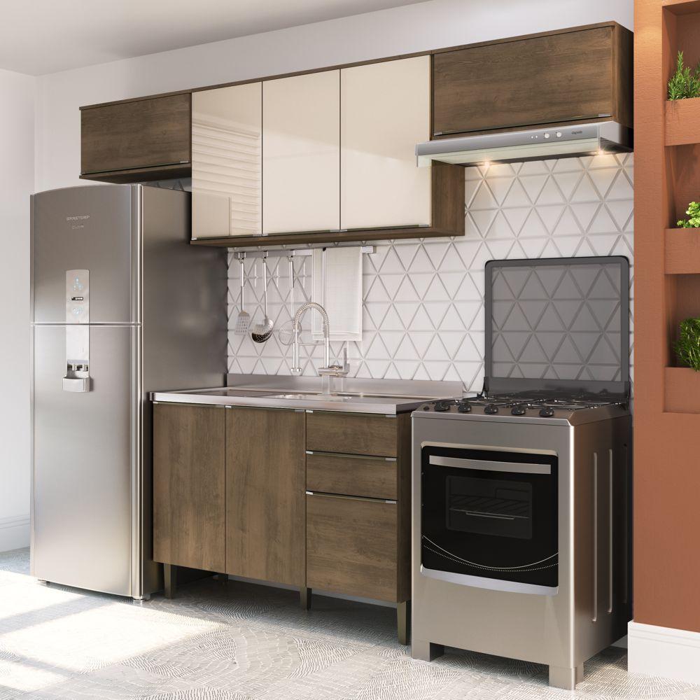 Armário de Cozinha Completo 4pc 2,60m A2893 Áustria Casamia