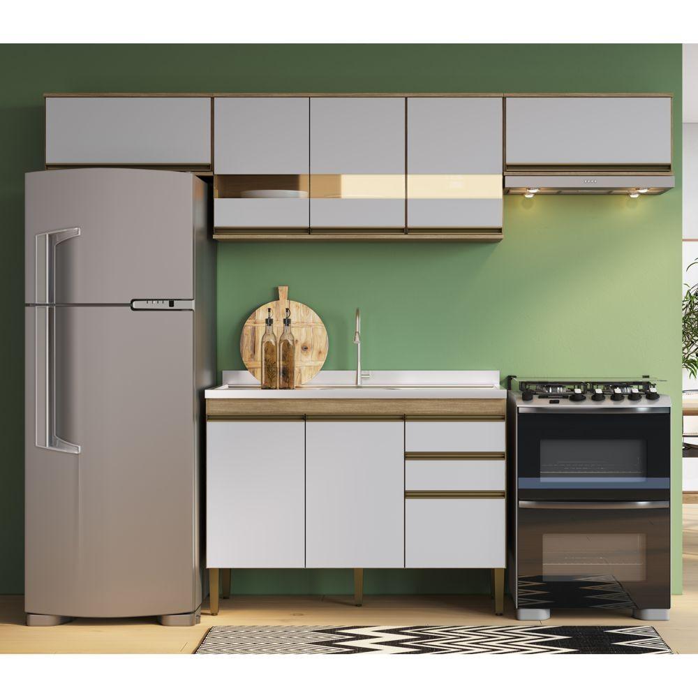 Armário de Cozinha completo 4pc 2,60m Casablanca A3495 Casamia