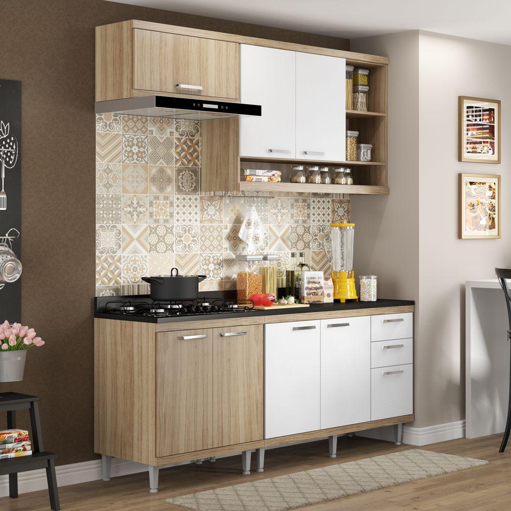 Armário de Cozinha Completo 5 peças 1,90m 5811 Linha Sicília Multimóveis