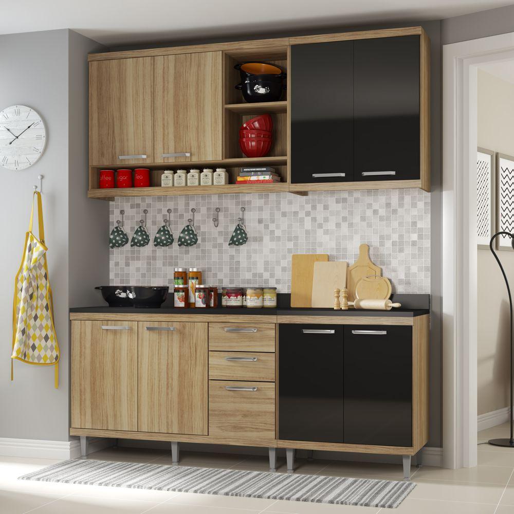 Armário de Cozinha Completo 5 peças 1,90m 5819 Linha Sicília Multimóveis