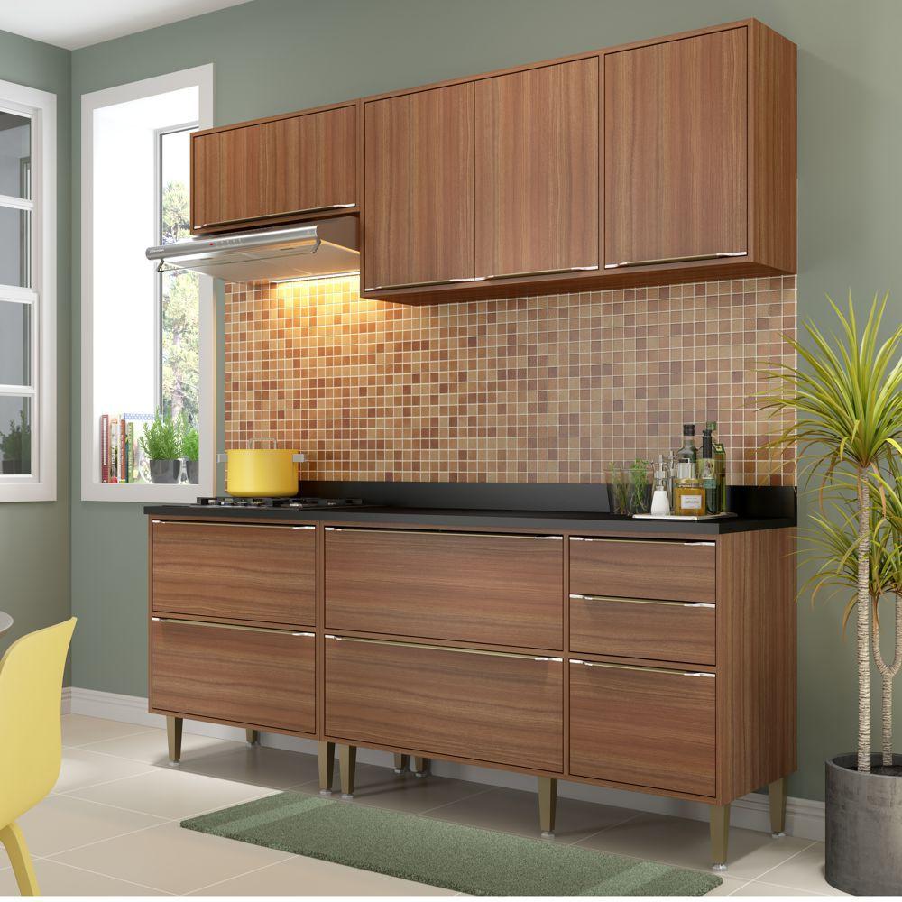 Armário de Cozinha Completo 5pc 1,90m Calábria 5459 Multimóveis