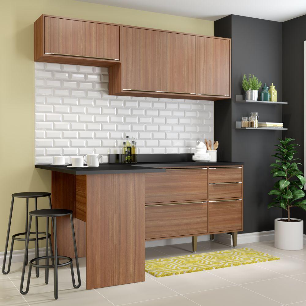 Armário de Cozinha Completo 5pc 1,90m Calábria 5460 Multimóveis